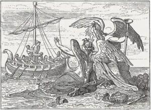 antike Grafik Odysseus