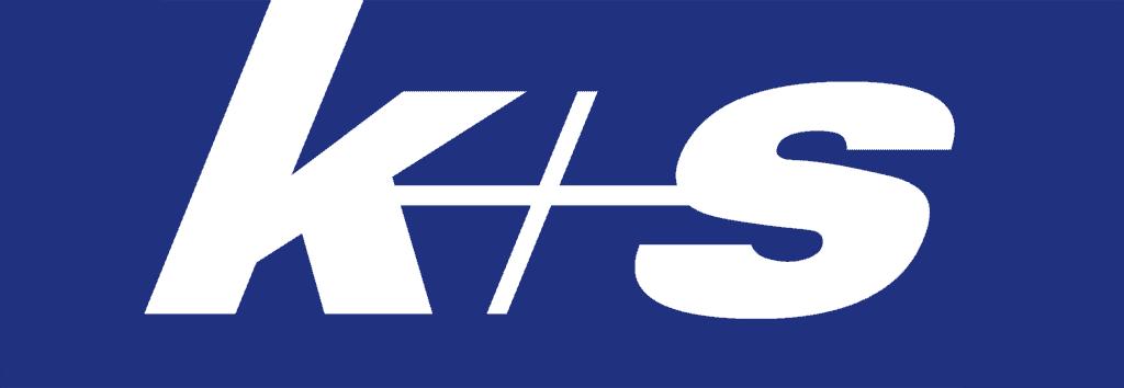 k+s Logo blau weiß