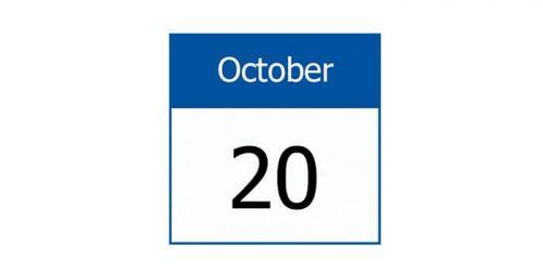 20 October