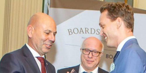 Aufsichtsrats-Gala Überreichung Award Markus Pflüger Boardsearch