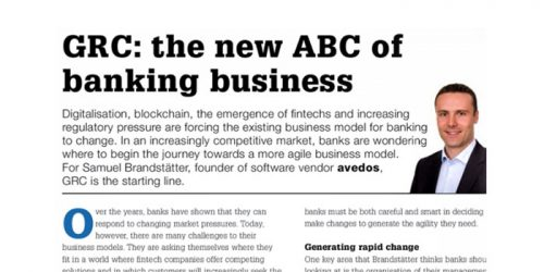 GRC the new ABC of banking business Zeitungsbericht